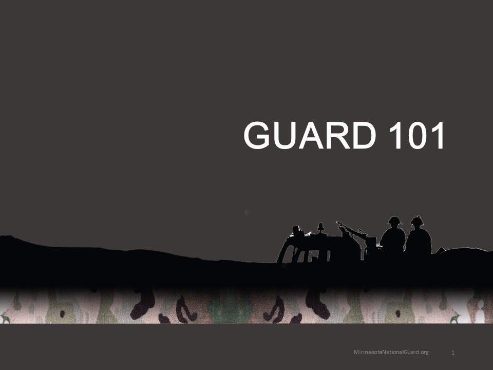 2019 Guard 101 brief