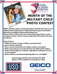 2021 Month of the Military Child Photo Contest